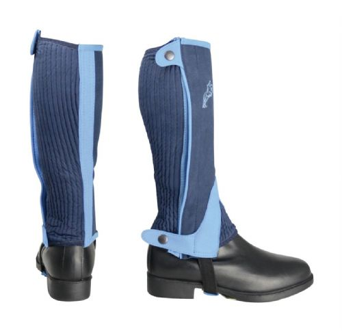 HyLand Two Tone Amara Child's Half Chaps in Navy/Sky